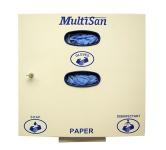 """Gamar Multifunktioneller Hygienespender """" Multisan"""" für Handschuhe, Papiertücher und Seife"""