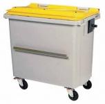 Rossignol Mülltonne mit Schiene mit 4 Rädern entspricht der Norm EN-840 1 bis 6