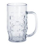 SET 12 St. Bier Krug 0, 4l SAN Glasklar Kunststoff Spülmaschinen fest, lebensmittelecht