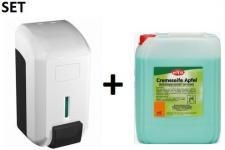 "SET CleanLine Eco "" Gel"" Seifenspender 700 ml + Eilfix Cremeseife Apfel 5 Liter"