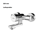 Franke F3S-Mix Selbstschluss-Wandbatterie Luftsprudler F3SM1007 DN 15 Ausladung: 220 mm
