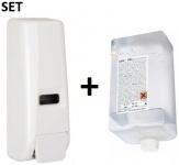 SET Desinfektions- und Seifenspender 400 ml + Sani Gel Desinfektionsmittel 400 ml