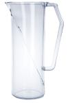 Kunststoff Krug 1l SAN Glasklar Mehrweggeschirr Geschirrspülmaschinen geeignet