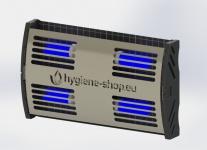 FliBlade 52 Insektenvernichter aus Edelstahl mit 4 x 13 Watt Eco Lampen
