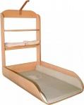 Design Wandwickeltisch inklusive Matratze - Formholz teilmassiv - Vertikal