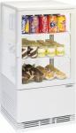 Casselin Mini Kühlvitrine 58l weiß 130 Watt mit Innenbeleuchtung - Umluftkühlung