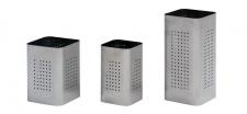 Graepel G-Line Pro QBIN Papierkörbe aus geschliff. Edelstahl 1.4016, 3 Größen