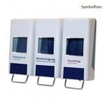 Metzger dreifacher Softflaschenspender aus Kunststoff, für 3x1l und 3x2l Flaschen