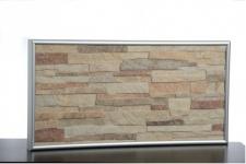 Elbo Therm IR-Steinheizung 200 Watt mit Aluminiumrahmen und Wandhalterung