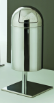 Graepel High Tech Indoor oder Outdoor Abfalleimer Outpush Maxi aus Edelstahl