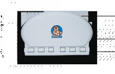 Koala Wickeltisch Oval KB-208 MICROBAN® Hygieneschutz - Mit pneumatische Zylinder
