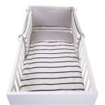 Childwood Bett Kopfschutz 35 x 170 cm Jersey marine