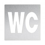 Wagner-EWAR Piktogramm WC AC404 Edelstahl matt geschliffen