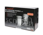 Geschenk-Set: 6Stk. G'spritzter / Schorle Glas 0, 25l SAN aus Kunststoff + Karton