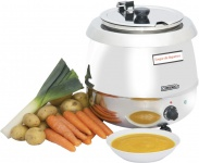 Casselin electric soup kettle 9 liters - stainless steel - 400 W - 30°C to 95°C