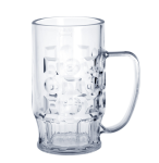 20er Set Bierkrug 0, 4l SAN Glasklar Kunststoff Spülmaschinen fest & lebensmittelecht