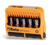 Beta Sortiment mit 10 Schraubeinsätzen für Torx®-Schrauben und magnetischer Schraubeinsatzhalter, im Kunststoffkasten 860TX/A10