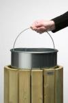 Rossignol verzinkter und runder Inneneimer 20L aus Stahl für Abfallbehälter Eden
