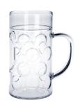 SET 12 St. Maß Krug 1l SAN Glasklar Kunststoff Spülmaschinen fest, lebensmittelecht