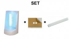 SET Insektenvernichter Flypod + 1x 6 Klebefolien + 1x UV-Röhre zur Insektenbekämpfung