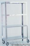 G-Line Pro Design Regal Quadra M - Alto aus Edelstahl gebürstet 1.4016 mit Räder