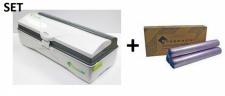 SET Effizienter Wrapmaster duo Spender und Frischhaltefolie 4500 aus Polyethylen
