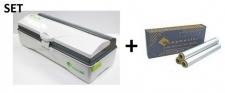 SET Effizienter Wrapmaster duo Spender für eine präzise Handhabung und Alufolie 4500