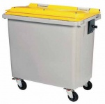 Rossignol Mülltonne ohne Schiene mit 4 Rädern entspricht der Norm EN-840 1 bis 6