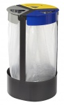 Rossignol Citwin Müllsackhalterung zum Aufstellen oder zum Befestigen 3 x 45 Liter