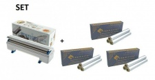 SET Effizienter Wrapmaster-Spender WM4500 und 3 Pack. Aluminiumfolie 4500