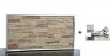 Set - Infrarot Steinheizung 200W mit Wandhalterung und Kabel und Stecker plus Thermostat