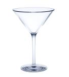Mehrweg Martini Glas Glasklar aus Kunststoff ca. 0, 1l SAN Kunststoff