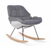 Childhome Rocking Stuhl Lounge Weiss + Grau