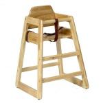 Kinder Hochstuhl Holz - Stapelbar in Natur und Walnuss