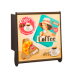 """Klappbare Wand-Bar """" Cafebar"""" mit Wunschmotiv von Timkid"""
