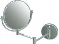CleanLine Doppelseitiger Kosmetikspiegel ''Miroir'' verchromt - Mit Gelenkarm