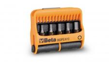 Beta Sortiment mit 10 Schraubeinsätzen und magnetischer Schraubeinsatzhalter, im Kunststoffkasten 860PE/A10