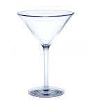 6er Set Mehrweg Martini Glas Glasklar aus Kunststoff ca. 0, 1l SAN Kunststoff