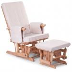Childhome Design Stillstuhl mit Fußstütze - Natur