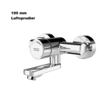 Franke Luftsprudler F3S-Mix Selbstschluss-Wandbatterie Auslauf 100mm F3SM1005 DN 15