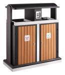 Abfallbehälter für Abfalltrennung draußen 100 Liter
