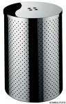 Graepel G-Line Pro Design Wäschebehälter Taormina aus poliertem Edelstahl 1.4016