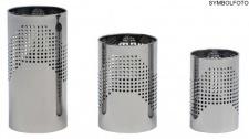 Graepel G-Line Pro Design Papierkörbe Quadrotto aus Chromstahl schwarz lackiert