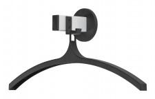 Wandgarderobe, magnetisch mit Kleiderbügel Schwarz, Aluminium Grau