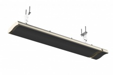 Infralogic Dunkelstrahler mit Fernbedienung mit IPX 4 aus Stahlblech in Schwarz