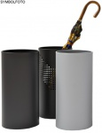 G-Line Pro Quadrotto Schirmständer aus schwarz lackiertem, gelochtem Chromstahl