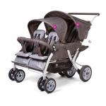 Childwheels Quadruple Vierlingsportwagen + Regenschutz