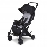Childhome New T-Compact Black Stroller + Rc + Mc Adapter