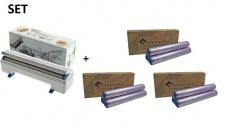 SET Effizienter Wrapmaster Spender WM4500 und + 3 Pack. Frischhaltefolie 4500