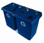 RUBBERMAID Glutton® Recyclingstation Blau 348 Liter